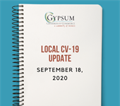 Gypsum Chamber's Local CV-19 Update September 18, 2020